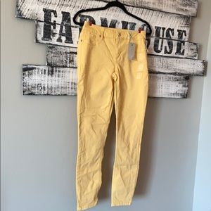 Maurices Yellow Mustard Jeggings Small 5-6